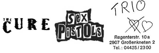 logos_TheCure_SexPistols_Trio