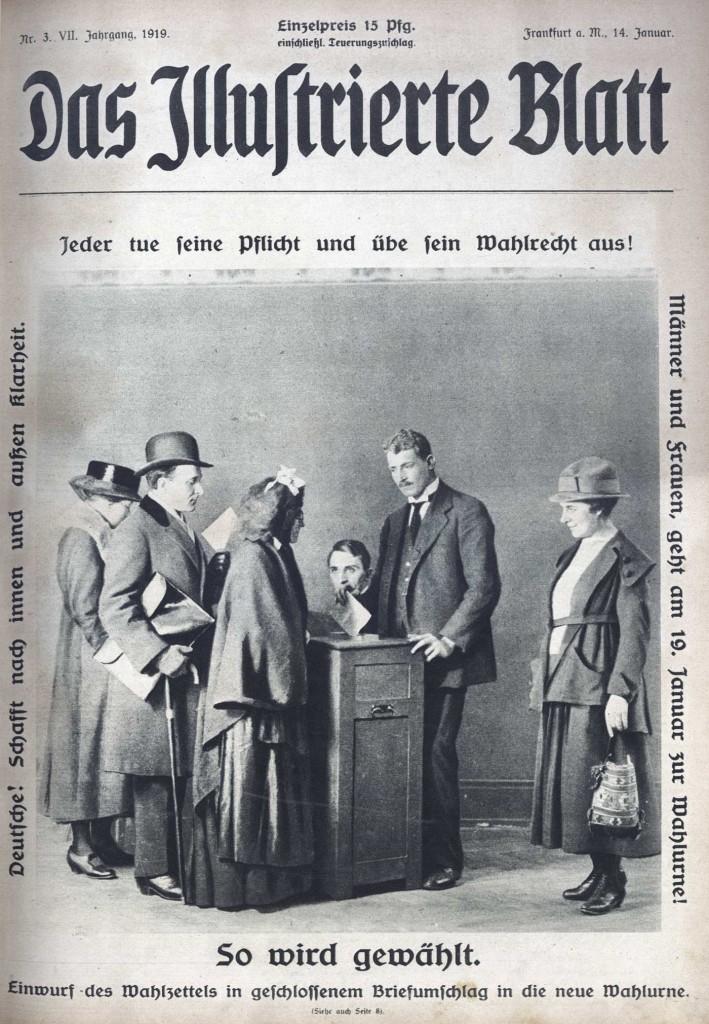 Wahlrecht - Das Illustrierte Blatt - Januar 1919