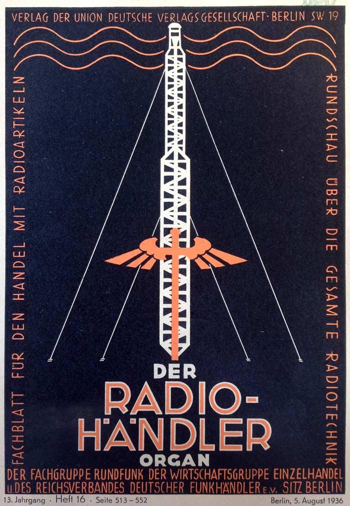 der radio-händler - august 1936
