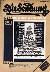 Die_Sendung_Nov1928_Titelblatt