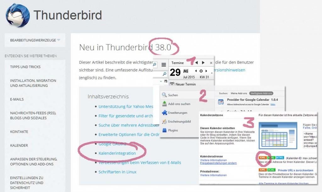 thunderbirdMitGoogleKalender